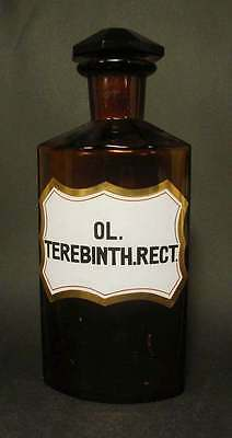 Apothekenflasche OL. THEREBINTH. RECT.