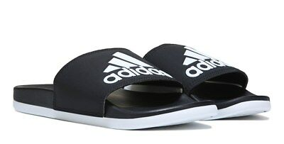 meet 50f3c 4f721 Adidas Womens Adilette Slide Sandals Black White Flip Flops Classic comfort  NEW