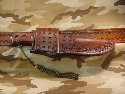 Custom leather cross draw sheath only made for Tops Bob / Condor  # 520