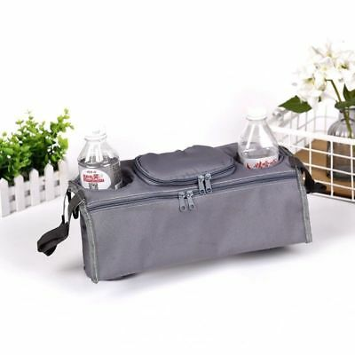 GREY Cup Holder Valco Baby Child Stroller Organizer Wipes Diaper Phone NEW Toys