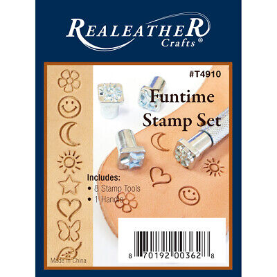 Realeather Crafts T4910 Funtime Stamp Set-