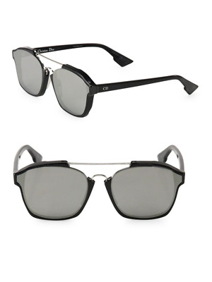 b6a86aafe201c Christian Dior Abstract 8070T Sunglasses Black Frame Silver Mirror Lenses  58mm