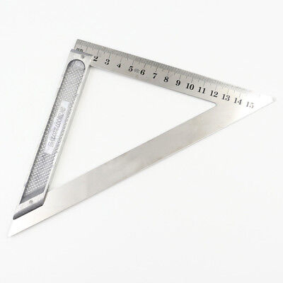 45° Ruler Aluminum Alloy Speed Square Roofing Triangle Protractor