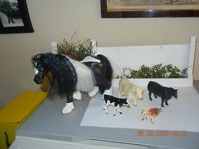 Horse and Cattle Play Herd Lot