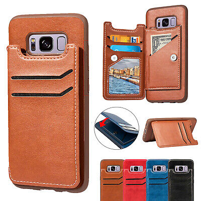 Leather Wallet Credit Card Holder Stand Case Cover for Samsung Note 8 S8/S9 Plus