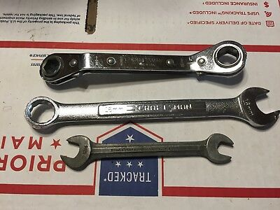"BLUEPOINT SUPREME S-1214 3/8""-7/16"" Craftsman 'V'16MM & 1/2""-9/16"" Rachet Wrench"