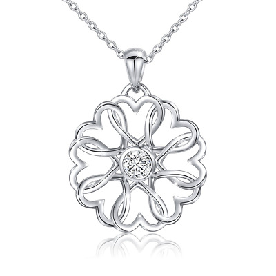 Necklace stainless steel S925 Sterling Silver Love Heart Pendant for Women 18