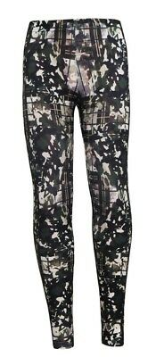 Kids / Girls Army Camouflage Camo Tartan Print Leggings Size 5 -10 Years