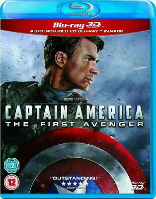 Captain America: The First Avenger 3D [Blu-ray 3D + Blu-ray] New and Sealed!!