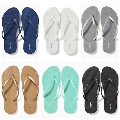 NWT Old Navy Classic Flip Flops Women Blue White Silver Gold Black 5 6 7 8 9 10