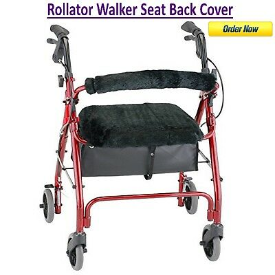 Rollator Walker Seat Back Cover Style Medical Mobility Equipment Black NEW