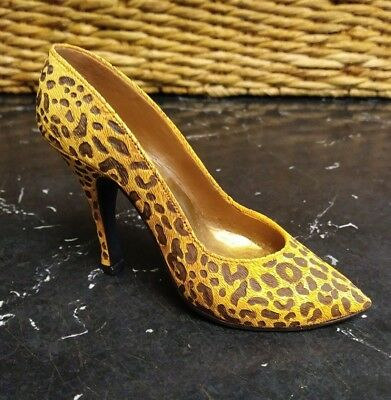 Just The Right Shoe 1998 Leopard Stiletto Item 25017 High Heel Print