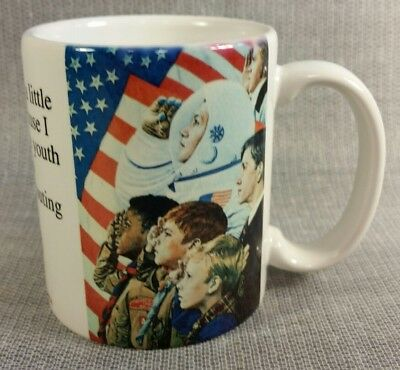 Vintage Boy Scouts Of America 9oz Coffee Mug Norman Rockwell Concord