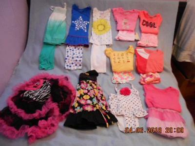 19 Pc Mixed Lot Girls Size 5-5T Used Summer Clothing (8 are nwt)