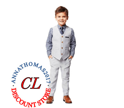 NEW BOYS ANDY & EVAN 4 PIECE DRESS SUITS OUTFITS - Size 7- FREESHIP @@@