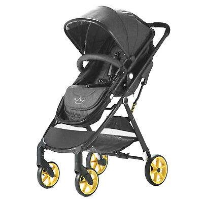 Allis Baby Pram Pushchair Travel System Buggy Stroller 2in1 From Newborn - Denim