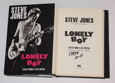 Steve Jones Signed Autographed LONELY BOY TALES FROM A SEX PISTOL HC Book COA