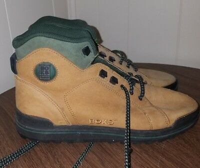 Reebok BOKS Tan Leather Suede Hiking Boots Men s 8 or Women s 10 - Vintage  90s ddb41ca59