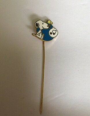 """Peanuts Gang 2-1/2"""" Collectible Snoopy Enamel Music Stick Pin Jewelry X-65"""