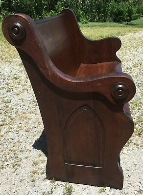 "Beautiful Antique Church Pew Gothic 50"" Custom Sizes Available Spindale NC NICE"