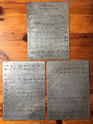 Antique Sheet Music Plates 1895 FREE SHIPPING