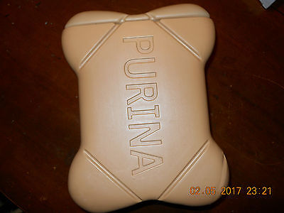 Vintage 80's Purina Biscuits Plastic Dog Bone Treat Canister