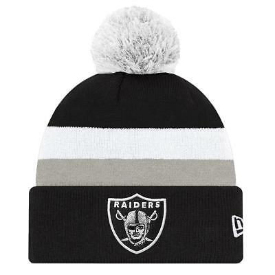 Oakland Raiders NFL Supporter Knit Beanie With Pom Pom From NEW ERA