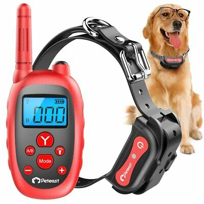 Rechargeable Dog Training Collar Waterproof 1000ft Electric Remote Shock Collar