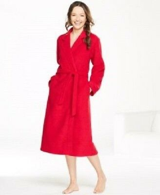 a4a122568d Miss Elaine Brushed Back Terry Wrap Robe Women s Medium Red NEW