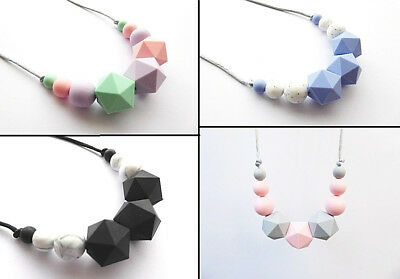Teething necklace Baby Teething BPA free silicone necklace for New mum Chewelry
