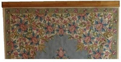 "Up to 72"" Compression Type Quilt Rack Tapestry Rug Hanger - Pine"