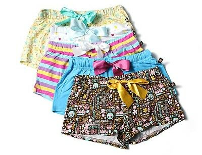 2 Pack Paul Frank Girls Youth Beach Shorts Sleep Bottom with Bow size 3-14
