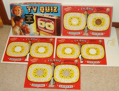 OLD TOY ANTIQUE Vintage Australian TV QUIZ Board Game OLD EXCELLENT CONDITION