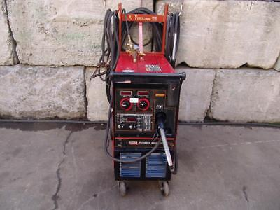 Lincoln Power Mig 350 Mp Wire Feed Welder Single Phase  Works Great  #4