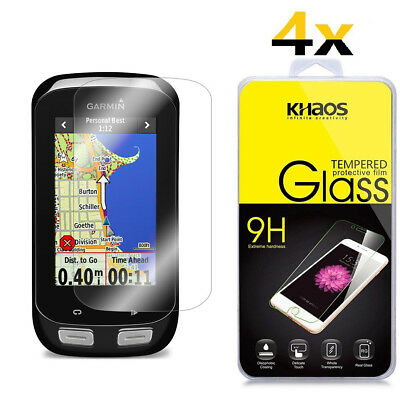 4-Pack Khaos For Garmin Edge 1000 Tempered Glass Screen Protector