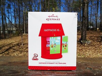 Rare 2013 New Happiness Is Peanuts All Year Long Ornament Display Stand - Scarce