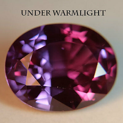 9.60ct.AWESOME RUSSIAN COLOR CHANGE ALEXANDRITE OVAL GEMSTONE