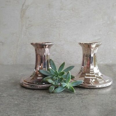 Vintage Viners Alpha Silver Plated Candle Holders Sheffield England Candlesticks