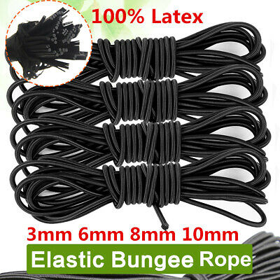 Elastic Bungee Rope Shock Cord Tie Down 3mm 4mm 5mm 6mm 8mm 10mm Various Colours Parts & Accessories