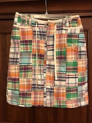 Hannah Madras Plaid Lined Skirt, super cute and preppy, Size S