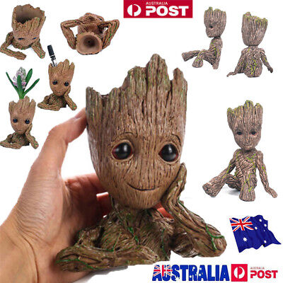 zz 6/16 CM Guardians of The Galaxy Baby Groot Figure Flowerpot Pen Pot Toy Gifts