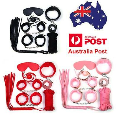 7Pcs Lovers Sexy Toy Set Adult Game Woollen Hand Ankle Cuffs Restraints SM Toy