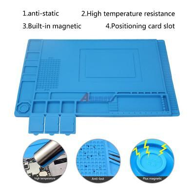 Anti Static Repair Heat Insulation 33.7*22.7cm Silicone Pad Desk-Magnetic