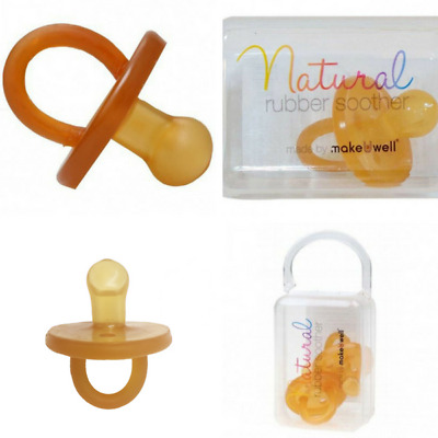 Natural Rubber Baby Dummy Soother Single Double Pack Orthodontic Round Dummies