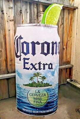 CORONA EXTRA BEER 5ft TALL CORONA ISLAND CAN STAND UP SIGN BRAND NEW 2 SIDED