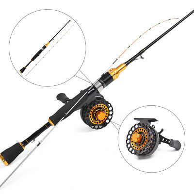 Fishing Raft Reel Combo Set Freshwater Fly Boat Wheel + 1M Lightweight Rod