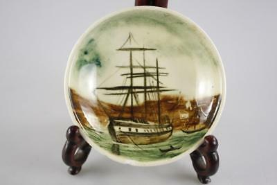 Martin Boyd Australia Pottery Hand Painted Ship Saucer Signed