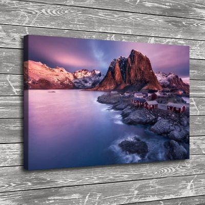 "12""x18""Norway Nature Mountain Home Decor Room HD Canva Print Wall Art Painting"