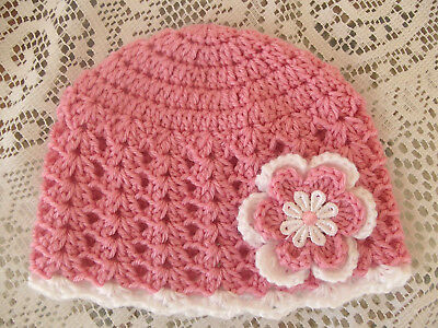 Handmade Crochet Baby Hat in 8 ply yarn FH603