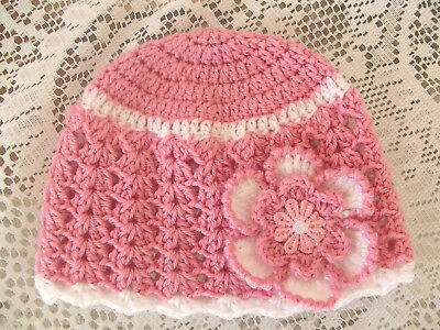Handmade Crochet Baby Hat in 8 ply yarn FH604